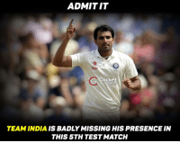 Memes, Cricket, and 🤖: ADMIT IT  Star  279  Cricket  TEAM INDIA IS BADLY MISSING HIS PRESENCE IN  THIS 5TH TEST MATCH Mohammed Shami !