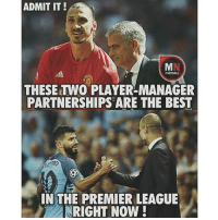 Agree❓: ADMIT IT!  THESE TWO PLAYER MANAGER  PARTNERSHIPS ARE THE BEST  IN THE PREMIER LEAGUE  RIGHT NOW! Agree❓