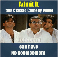 Double Tap for this Trio 👌🏻 Baburao rocks 🙌🏻🙌🏻 HeraPheri Awesomeness: Admit it  this Classic Comedy Movie  de  can have  NO Replacement Double Tap for this Trio 👌🏻 Baburao rocks 🙌🏻🙌🏻 HeraPheri Awesomeness