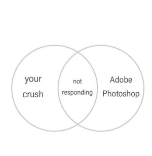 Adobe, Crush, and Dank: Adobe  your  not  responding Photoshop  crush meirl by h0tp0tat069 MORE MEMES