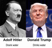 Adolf Hitler  Donald Trump  Drank water  Drinks water