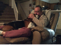 Memes, Rocky, and Saw: Adoption story by Barbara Vasquez  Rocky, our Basset Hound had just passed away. My husband was heartbroken. Soon after, we received a call from our Basset Hound rescue about a boy who needed to be rehomed because the couple had a toddler and a new baby on the way and the dog would not be able to get the attention he deserved. They sent a photo and then I saw a change in my husband's eyes. Arnold, our dog, came to meet us that day and never left—he is home.  In the comments section below, share with us your adoption story. Don't forget to include a photo of your adopted pet! :)