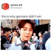 Germany, Mexico, and Korea: adriana  @chulopjnm  this is why germany didn't wirn VAMOS MEXICO. I DON'T KNOW WHO I'LL CHEER FOR THIS SATURDAY. MEXICO OR KOREA.cr: chulopjm