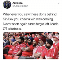 😂😂😂 https://t.co/FjKwIamXVC: Adrianoo  @LeTacticienn  Whenever you saw these dons behind  Sir Alex you knew a win was coming.  Never seen again since fergie left. Made  OT a fortress.  珥: 😂😂😂 https://t.co/FjKwIamXVC