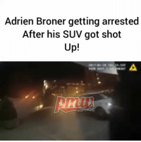 Covington police pulled Broner over in an SUV riddled with bullet holes and arrested him. Jail records indicate that AdrienBroner was arrested on an open warrant early and charged with failure to appear, a misdemeanor charge. The open warrant was for a public intoxication charge from 2014. - FULL VIDEO AT PMWHIPHOP.COM LINK IN BIO: Adrien Broner getting arrested  After his SUV got shot  Up!  HIPHOP Covington police pulled Broner over in an SUV riddled with bullet holes and arrested him. Jail records indicate that AdrienBroner was arrested on an open warrant early and charged with failure to appear, a misdemeanor charge. The open warrant was for a public intoxication charge from 2014. - FULL VIDEO AT PMWHIPHOP.COM LINK IN BIO