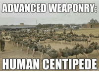 Caption this! Double tap and Comment below✅ sa_alphaco military captionthis: ADVANCEDWEAPONRYe  NEMES  HUMAN CENTIPEDE Caption this! Double tap and Comment below✅ sa_alphaco military captionthis