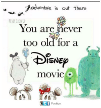 adventure is out there: adventure is out there  NEVER GROW UP  You are never  too old for a  28  movie  1  Postize