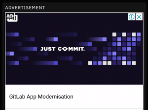 Reddit, Awesome, and App: ADVERTISEMENT  AD  JUST COMMIT.  GitLab App Modernisation An awesome encouraging Reddit ad to get you through the day