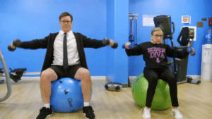 laughingsquid:  Stephen Colbert Works Out With Justice Ruth Bader Ginsburg While Dressed Like Angus Young of AC/DC: AED  DIVA laughingsquid:  Stephen Colbert Works Out With Justice Ruth Bader Ginsburg While Dressed Like Angus Young of AC/DC