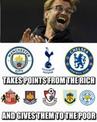 Robinhood of premier league😂...!!! Liverpool lost 3-1 against Leicester City...!!! Tag your mate who supports LFC...!!!: AELSA  CHES  OTTENHAM  CITY  HOTSPUR  OTBALL  TAKES POINTS FROM THE RICH  OUT  AND GIVESTHEMTO THE POOR Robinhood of premier league😂...!!! Liverpool lost 3-1 against Leicester City...!!! Tag your mate who supports LFC...!!!