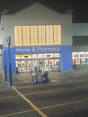 Home, Pharmacy, and Trashy: AEN  Home & Pharmacy  50  50%  50 Found in the very middle of the parking spot. Originally posted in r/peopleofwalmart but everyone loved it so I'm also posting here!