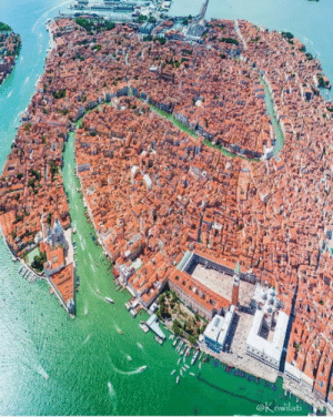 Aerial view of Venice, Italy: Aerial view of Venice, Italy