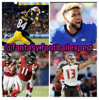afantasyfootballexpert I'm starting to look into my early rankings for 2017. It's gonna be tough to figure out what order these four recievers should be put in. My original feeling is AB, Evans, Julio, Beckham. However, I'm going back and fourth between Evans and Julio at 2 and 3. Keep in mind it's still very early and these rankings will change between now and the start of next season. Comment below what order you would rank these four recievers in the order that you would draft them 👇👇👇 fantasyfootball antoniobrown mikeevans juliojones odellbeckham