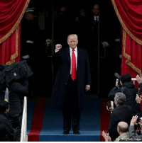 President-elect @realDonaldTrump is introduced at the U.S. Capitol for the inauguration. Trump45: AfarWong/Getty Images President-elect @realDonaldTrump is introduced at the U.S. Capitol for the inauguration. Trump45