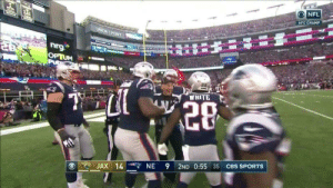 My Nigga, Patriotic, and Shit: AFCCHAMP ini  10  NA POINT  WHITE  20  . JAX 14-r, NE 9 2ND 0:55 35 CBS SPORTS kinghispaniola:This shit is rigged my nigga look how excited this ref was he knew ! Fuck the patriotswhen the pats win i say its rigged cuz wah wah *cry baby sounds* 😂