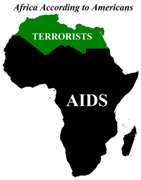 Africa According to Americans  TERRORISTS  AIDS A remake of an old meme I made ~ Uncle Sam