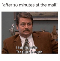 "Girl Memes, Race, and Human: after 10O minutes at the mall""  l hate the public  The public is stupid Over the entire human race"