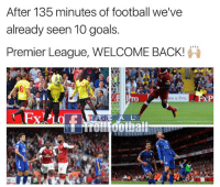 Premier League 😍⚽️: After 135 minutes of football we've  already seen 10 goals.  Premier League, WELCOME BACK!  ke a Pro  ROE A L Premier League 😍⚽️