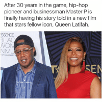Queen Latifah, Master P, and Memes: After 30 years in the game, hip-hop  pioneer and businessman Master P is  finally having his story told in a new film  that stars fellow icon, Queen Latifah.  ESSENCE  BLAC  NOM  OFFICIAL GRAMMY  SEN