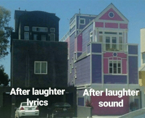 Laughter, Sound, and Rics: After laughter After laughter  rics  sound