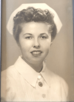 "Alive, Dank, and Desperate: After reading the horrifying headlines this week, I looked at this photo of my grandmother... and was grateful she wasn't alive to see our state of affairs.   You see, my grandmother was an RN before Roe v. Wade.   During my undergrad, I would sit at her kitchen table, while she flipped through mail order catalogs, and I would pepper her with questions.  The one that stuck with me, ""What was it like being a nurse?"" She loved it, but she got very serious when she described pre-Roe v. Wade.   She described horror stories of what ""back alley butchers"" did to these women. Coat hangers. Knives. Knitting needles. Caustic household chemicals all being inserted into the vaginal canal. These ""butchers"" would try anything and would get more creative as time went on.   Gam said it was horrific.   She knew firsthand... she cared for these women outside of a hospital setting. She risked her own freedom and her family's safety to care for these ""desperate women."" She kept this from her family, and would secretly ""run errands"" so she could help these people.  These women couldn't go to the hospital, otherwise they risked prosecution. Think about it...You've just been internally maimed, beyond recognition, bleeding out in agony... and you can't get medical care or you will be sent to jail.   For anyone who knew Gammy Biff, she was as tough as nails, and even these experiences were embedded on her soul until the day she died.   About six months before she passed away, I sat at the same kitchen table and she was reflecting that she had a good life... it was a surreal conversation. But, surprisingly Roe.v. Wade came up again. She said ""whether you agree or disagree with abortion, that law keeps desperate women safe."" She told me if we ever backtrack and the government tries to take away ""a woman's right to be SAFE,"" then I'm to protest as loud as I can.   I will, Gammy Biff. I will.   For all of the desperate women who will endure illegal procedures, I'm sorry. We're better than this.   And... I'm grateful that my Gam isn't here to see more desperate women suffering. She saw enough of it to last an eternity.   (via Traci A. Ketchum-Hallinan, Be Heard Consulting Group)"
