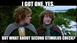 After spending my entire Stimulus Check on past due bills.: After spending my entire Stimulus Check on past due bills.