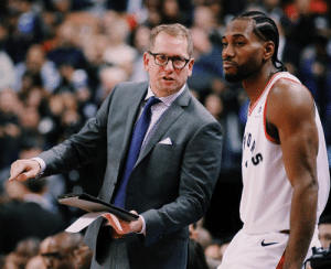 "After the Raptors went up 3-2 on the Bucks, Nick Nurse told a story about winning Game 1 of the D-League Finals but not finishing the series at home.  Kawhi interrupted and joked, ""In the D-League? I'm done listening to this.""  (via Zach Lowe): After the Raptors went up 3-2 on the Bucks, Nick Nurse told a story about winning Game 1 of the D-League Finals but not finishing the series at home.  Kawhi interrupted and joked, ""In the D-League? I'm done listening to this.""  (via Zach Lowe)"