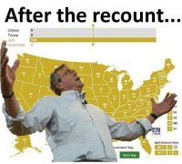 Jeb Bush is my spirit animal ~ narwhal: After the recount...  Clinton  Trump  Jeb  538  Undecided  0  ME  ND  MN  20 11 18  5 VA  NJ  DE  10  70 DC  BWIN  Split Electoral Votes  enerated Map  NE 3 1 1  Share Map Jeb Bush is my spirit animal ~ narwhal