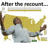 Trump, Nes, and Clinton: After the recount...  Clinton  Trump  Jeb  Undecided 0  538  10  s6  13  10  NJ  DE  MD  70 C  AK  Spht Electoral Votes  enerated Map  NES  sharo Map After The Recount