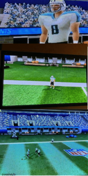After throwing my 4th pick in Wii Madden. The game broke. Cut to these 3 images over and over again.: After throwing my 4th pick in Wii Madden. The game broke. Cut to these 3 images over and over again.