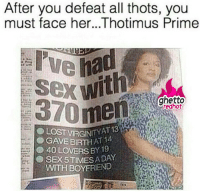 """<p><strong>Thotimus Prime</strong></p><p><a href=""""http://www.ghettoredhot.com/thots-pics/"""">http://www.ghettoredhot.com/thots-pics/</a></p>: After you defeat all thots, you  must face her...Thotimus Prime  ghetto  370 men  VİRGINIT YAT 13  T 14  GAVEBIRTH A,  40 LOVERS BY 19  SEX 5TINMES A DAY  WITH BOYFRIEND <p><strong>Thotimus Prime</strong></p><p><a href=""""http://www.ghettoredhot.com/thots-pics/"""">http://www.ghettoredhot.com/thots-pics/</a></p>"""