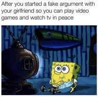 Be Like, Fake, and Video Games: After you started a fake argument with  your girlfriend so you can play video  games and watch tv in peace  ocks  5 It be like that sometimes 🤷♂️😆 https://t.co/N8khXf79BO