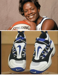 "Basketball, Nike, and Her: AGDALDING   Swoopes. Sheryl Swoopes is the first women's basketball player to have a Nike shoe named for her. They were called ""Air Swoopes"". #BlackHistoryMonth https://t.co/8VzJRQWaDr"