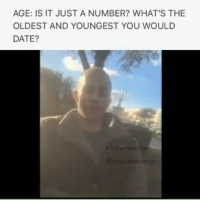 "Memes, Wcw, and 🤖: AGE: IS IT JUST A NUMBER? WHAT'S THE  OLDEST AND YOUNGEST YOU WOULD  DATE? @Regrann from @zippyisamazing - Part 2-2 Is age really just a number? What's the oldest or youngest you would consider for serious dating? Also, see if your answers are close to this fun little formula, or ""rule of thumb,"" that gives you a ""reasonable"" range to date: To find the YOUNGEST age to date, take 1-2 your age + 7 years. To find the OLDEST age to date, subtract 7 from your age and then double it. NO JUDGEMENT ZONE!!! TO EACH HIS OWN!!! Disclaimer: Content is only for healthy discussions & observing unbiased opinions. Don't take these opinions too seriously, and continue to do what works best in your personal affairs!! . . ToEachHisOwn letstalk significantother vlog instashow watch pressplay opinions relationshipgoals couples relationships memes age young old families family familygoals people photooftheday videooftheday trending hottopic wcw mcm explorepage share like likeforlike jacksonville"