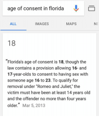 Romeo and juliet law florida