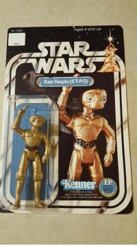 Someone mashed up Star Wars and E.T. and now we have ET-PO: Ages 4 and up  Eee-Teepio (ET PO)  Kenned  nTMENTETH CENTURY Fox FR CORP Someone mashed up Star Wars and E.T. and now we have ET-PO