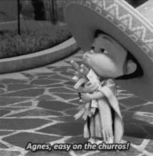 Target, Tumblr, and Black: Agnes,easy on the churros! nasturbate:  why is this in black and white. did she die? are these her last moments? did she die from churro overdose? thats the way i want to go