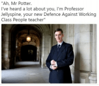 "Floccinaucinihilipilification: ""Ah, Mr Potter.  I've heard a lot about you, I'm Professor  Jellyspine, your new Defence Against Working  Class People teacher""  2 Floccinaucinihilipilification"
