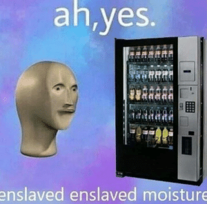 Memes, 🤖, and Yes: ah,yes.  enslaved enslaved moisture