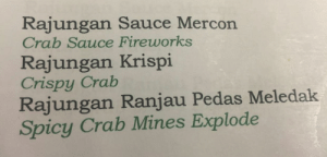 ah yes, i would like my stomach to be exploded by crab mines.: ah yes, i would like my stomach to be exploded by crab mines.