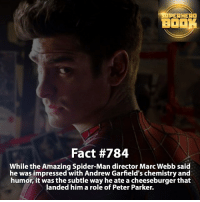How many of you like Andrew Garfield as Spider-Man? - marvel superhero facts marvelfacts supervillain rocketracoon spiderman marveluniverse anime marvelstudios xmen daredevil avengers comics mcu marvelart marvelcomics teamcap civilwar teamironman ironman avengers deadpoolmovie blackpanther captainamerica deadpool blackpanther andrewgarfield ===================================: AHEAD  BO  Fact #784  While the Amazing Spider-Man director Marc Webb said  he was impressed with Andrew Garfield's chemistry and  humor, it was the subtle way he ate a cheeseburger that  landed him a role of Peter Parker. How many of you like Andrew Garfield as Spider-Man? - marvel superhero facts marvelfacts supervillain rocketracoon spiderman marveluniverse anime marvelstudios xmen daredevil avengers comics mcu marvelart marvelcomics teamcap civilwar teamironman ironman avengers deadpoolmovie blackpanther captainamerica deadpool blackpanther andrewgarfield ===================================