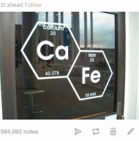 this is clever @idiosyncrat: ahead Follow  calc  20  Ca  iron  26  Fe  40.078  55.845  594,092 notes this is clever @idiosyncrat