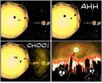 Thankfully the Sun doesn't have allergies....or frequent, major solar flares that reach Earth. [@WeFlaps]: AHH  CHOOI Thankfully the Sun doesn't have allergies....or frequent, major solar flares that reach Earth. [@WeFlaps]