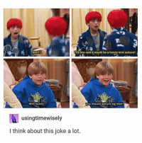 I love this show 😂: AHH!!  The box said it would be a honey mist auburn!  Well honey  you missed auburn big time  NI usingtimewisely  I think about this joke a lot. I love this show 😂