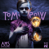 The wait is ALMOST over. AHSapocalypse premieres tomorrow. ⏳🔥: AHS  9.12  FX  APOCALYPSE The wait is ALMOST over. AHSapocalypse premieres tomorrow. ⏳🔥