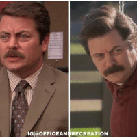 First and last appearance of Ron Swanson: AIGIa OFFICEANI RECREATION First and last appearance of Ron Swanson
