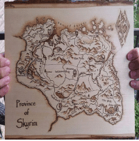 Memes, Skyrim, and 🤖: aimarc  The Pale  Province  of  Rifter  Skyrim This woodburned map of Skyrim is incredible! (Credit: @huggablezombie)