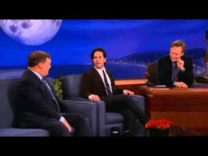 "Apparently, Prank, and Target: aimmyarrowshigh:  phoenixyfriend:  My stomach hurts and I can barely breathe, because I haven't laughed this hard in a very, very long time. I only learned about this prank less than fifteen minutes ago, but I'm already dead from how ridiculous it is. Context: Paul Rudd has a history of going on Conan O'Brien's shows (first Late Night, then Conan) and, when asked to show a clip from his newest movie, shows this snippet of a 1988 movie called Mac and Me (an ET ripoff) that people refer to as ""the runaway wheelchair scene."" And Conan falls for it… every time. The exasperation through the years just kills me. Every time Conan thinks that he's maybe caught a break, it happens again. He thought that Paul Rudd might have laid off the joke for Ant-Man, in hopes of not pissing off Marvel. Look at that face. Look at that expression. Look at how resigned and dead he is. This was his chance to get Paul Rudd to actually show a proper clip. Who would piss off Marvel? Who would waste a chance to promo their new movie for a prank they'd already been doing for fifteen years? Paul Rudd, apparently."
