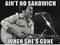 ......... Ain't No Sammich... When She's Gone....: AIN'T NO SANDWICH  WHEN SHE'S GONE ......... Ain't No Sammich... When She's Gone....