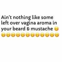 Beard, Vagina, and Dank Memes: Ain't nothing like some  left over vagina aroma in  vour beard & mustache She Really Marked Her Territory..👌🏾🤤💯